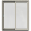 JELD-WEN W-2500 71.25-in 1-Lite Glass Wood Sliding Patio Door with Screen