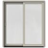 JELD-WEN W-2500 71.25-in 1-Lite Glass Desert Sand Wood Sliding Patio Door with Screen