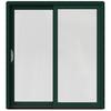 JELD-WEN W-2500 71.25-in 1-Lite Glass Hartford Green Wood Sliding Patio Door with Screen