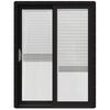 JELD-WEN W-2500 59.25-in Blinds Between The Glass Black Wood Sliding Patio Door with Screen