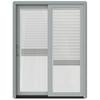 JELD-WEN W-2500 59.25-in Blinds Between The Glass Wood Sliding Patio Door with Screen