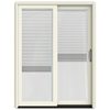 JELD-WEN W-2500 59.25-in Blinds Between The Glass Wood Sliding Patio Door with Screen