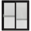 JELD-WEN W-2500 71.25-in Blinds Between the Glass Wood Sliding Patio Door with Screen