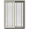 JELD-WEN W-2500 59.25-in Grid Glass Wood Sliding Patio Door with Screen