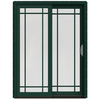 JELD-WEN W-2500 59.25-in Grid Glass Hartford Green Wood Sliding Patio Door with Screen