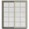 JELD-WEN W-2500 71.25-in 10-Lite Glass Wood Sliding Patio Door with Screen