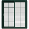 JELD-WEN W-2500 71.25-in 10-Lite Glass Wood Sliding Patio Door with Screen