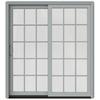 JELD-WEN W-2500 71.25-in 15-Lite Glass Wood Sliding Patio Door with Screen