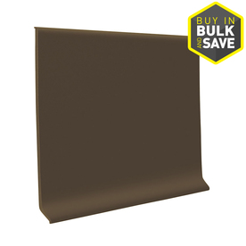 FLEXCO 4&#034;W x 4&#039;L Chocolate Wall Base
