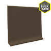 FLEXCO 4-in W x 4-ft L Chocolate Thermoplastic Rubber Standard Wall Base