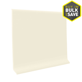 FLEXCO 4-in W x 4-ft L Baby's Breath Thermoplastic Rubber Standard Wall Base