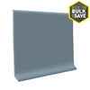 FLEXCO 4-in W x 4-ft L Blue Shadow Thermoplastic Rubber Wall Base