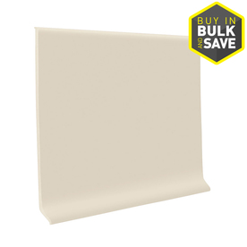 FLEXCO 4-in W x 4-ft L Almond Thermoplastic Rubber Wall Base