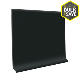FLEXCO 4-in W x 4-ft L Black Dahlia Vinyl Wall Base