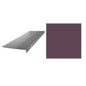 FLEXCO 6-Pack Plum Pudding Rubber Radial Adjustable Nose Stair Treads