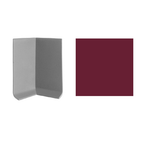 "FLEXCO 3""W x 4""L Berry Inside Corner Wall Base"