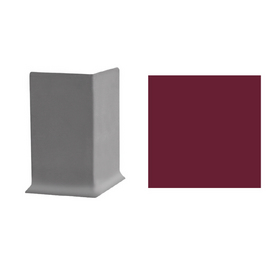 FLEXCO 30-Pack 4-in W x 3-in L Berry Outside Corner Vinyl Wall Base