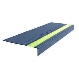 FLEXCO 12-in x 48-in Blue Rubber Square Nose Stair Treads