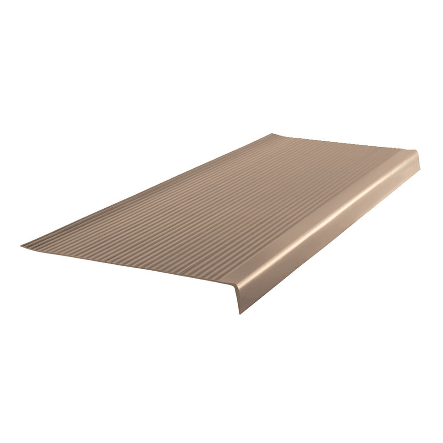 Shop FLEXCO Flexco 36-In Cappuccino Vinyl Rib Square Nose Stair Tread (10-Pack) at Lowes.com
