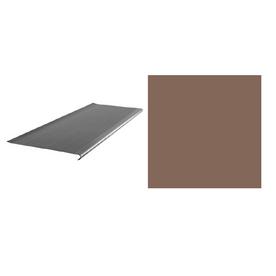 FLEXCO 10-Pack Milk Chocolate Vinyl Rib Round Nose Stair Treads