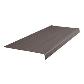 FLEXCO 12.5-in x 42-in Bark Vinyl Square Nose Stair Treads