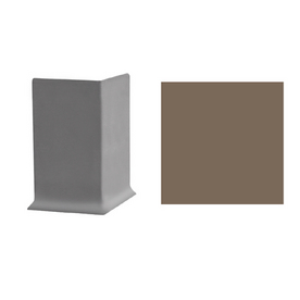 FLEXCO 30-Pack 4&#034;W x 3&#034;L Milk Chocolate Outside Corner Wall Base