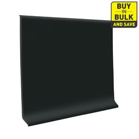 FLEXCO 4-in W x 120-ft L Black Dahlia Thermoplastic Rubber Standard Wall Base