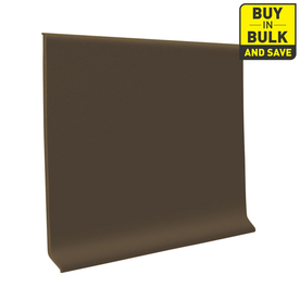 FLEXCO 4-in W x 120-ft L Chocolate Thermoplastic Rubber Wall Base