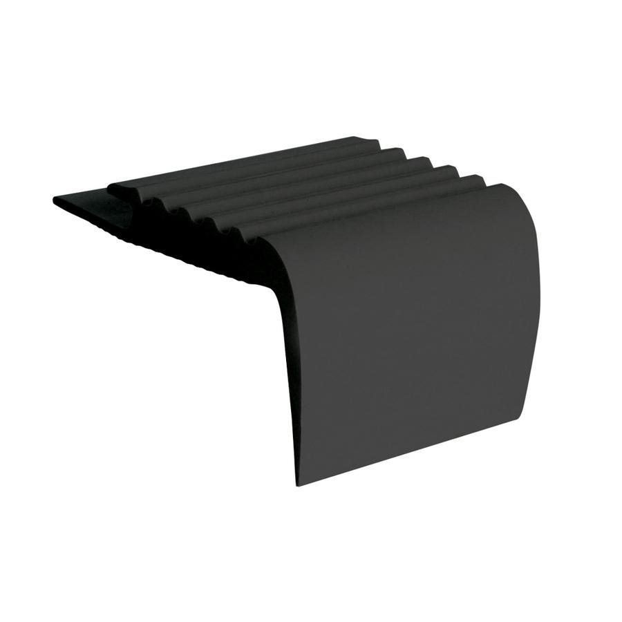 Shop FLEXCO Stair Nose 2-in x 144-in Black Dahlia Vinyl ...