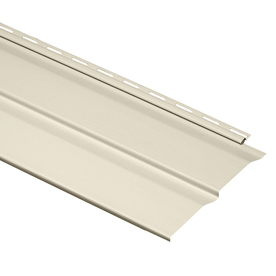 "Durabuilt 410 Series Double 4-1/2"" Dutch Lap Vinyl Siding - Cream"