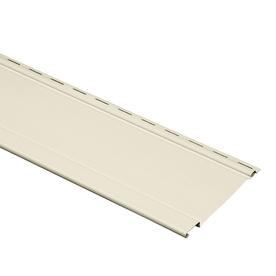 Durabuilt 17-Pack 8.2-in x 120-in Cream Board and Batten Vinyl Siding Panels
