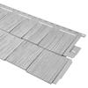 Durabuilt 20.375-in x 58.125-in Woodgrain/Gray Shake Vinyl Siding Panel