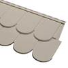 Durabuilt 51.75-in x 16.375-in Woodgrain/Clay Scallop Vinyl Siding Panel