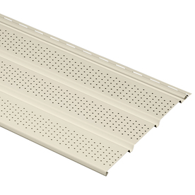 Durabuilt 12-1/8-in x 12-ft Cream Triple Vented Soffit