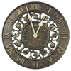 Whitehall Analog Round Outdoor Wall Garden Clock