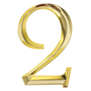 Whitehall 6-in x 4-in Polished Brass Number 2