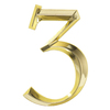 Whitehall 6-in x 4-in Polished Brass Number 3