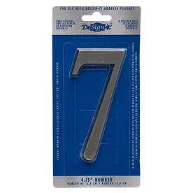 "DeSign-it 5-in Brushed Nickel Number ""7"""
