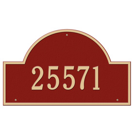 Whitehall Estate Arch Marker Red/Gold