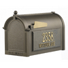 Whitehall 9-5/8-in x 15-in Metal Bronze Post Mount Mailbox