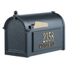 Whitehall 9-5/8-in x 15-in Metal Black Post Mount Mailbox