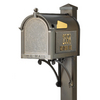 Whitehall 9-5/8-in x 55-in Metal Bronze Post Mount Mailbox with Post