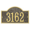 Whitehall 7.25-in x 12-in Arch Plaque
