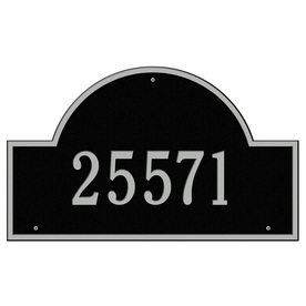 Whitehall Estate Arch Marker Black/Silver