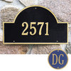 Whitehall Estate Wall Blue/Gold One Line Arch Marker