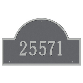 Whitehall Estate Arch Marker Pewter Silver