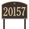 Whitehall 31-in x 20.5-in Cape Charles Estate Lawn One Line Bronze/Gold Plaque