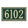 Whitehall 7.25-in x 13-in Egg and Dart Standard Wall One Line Green/Gold Plaque