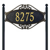 Whitehall 28-in x 17.5-in Hackley Fretwork Standard Lawn One Line Black/Gold Plaque