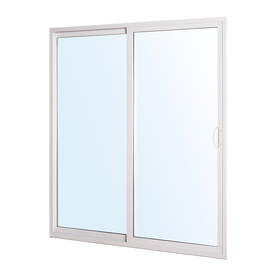 ReliaBilt 300 Series 5-ft 10-1/2-in-in Low-E Clear Vinyl Sliding Patio Door
